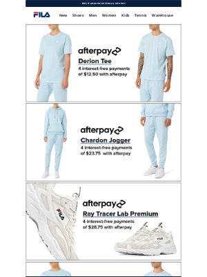 Fila Inc. - Upgrade Your Essentials with Afterpay