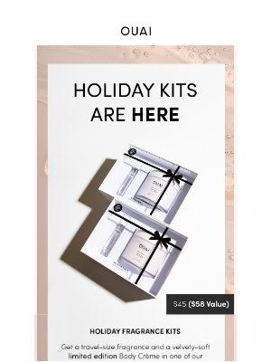 OUAI HAIRCARE - Limited Edition Holiday Kits are Here!