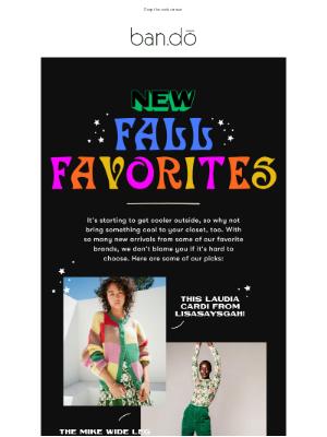 ban.do - NEW Fall Favorites