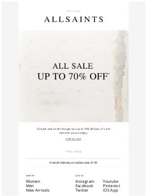 ALLSAINTS (UK) - Sit back, shop the Sale