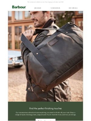 Barbour (UK) - New Accessories To Complete Your Fall Look 🍂