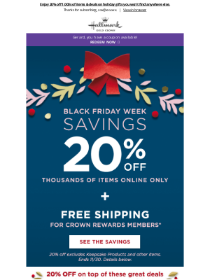 Hallmark - 💰Shop Black Friday deals to get you in the holiday spirit