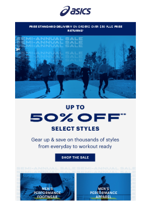 Up to 50% off marked down styles ends SOON