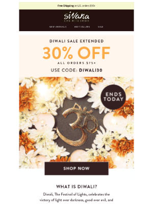 Sivana - [Special Discount] Diwali Sale Ends Tonight 🕯