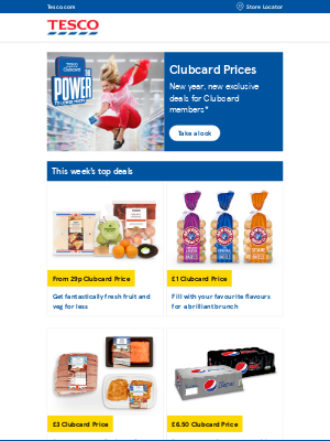 Tesco (UK) - Jennifer, start the year with exclusive deals