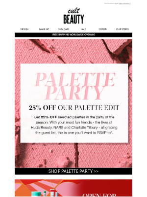 Cult Beauty (UK) - That palette you wanted? There's 25% off…