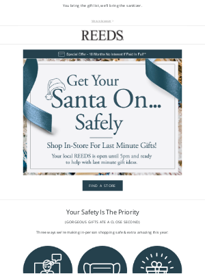REEDS Jewelers - Wrap up gifting—your local store is open!