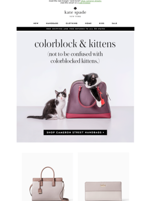 kate spade new york meet the new margot. (and more!) shop cameron street> v