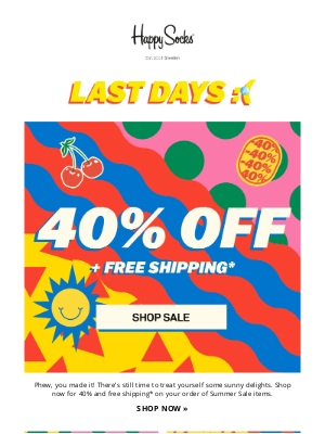 There's still time! 40% off