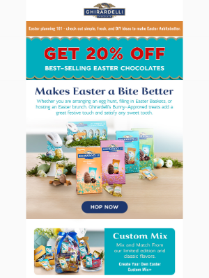 Ghirardelli Chocolate Company - Ending Soon: Overnight Shipping to receive Easter