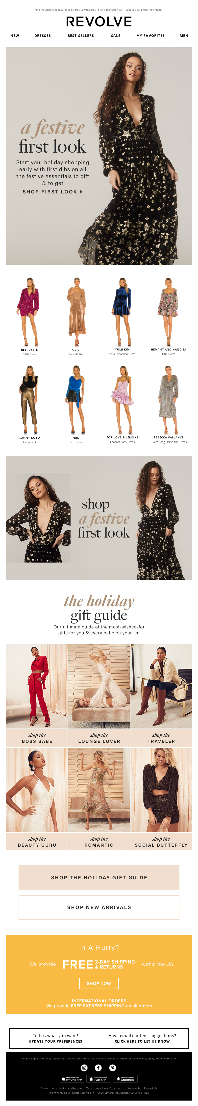 REVOLVE - get your holiday faves FIRST!