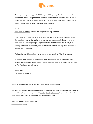 A notice to our YLiving customers