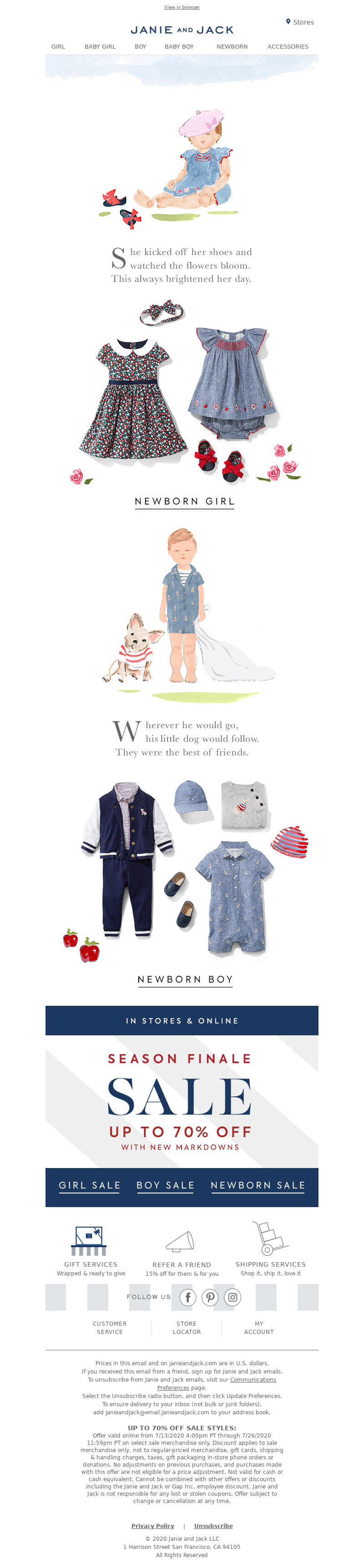 Janie and Jack - A short story: new collection for baby