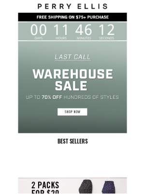 Perry Ellis - LAST CALL: The Warehouse Sale