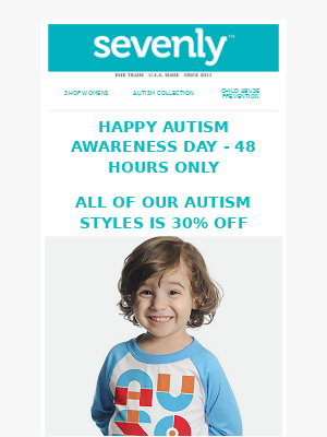 HAPPY AUTISM AWARENESS DAY + SEVENLY = HELP CHANGE THE WORLD