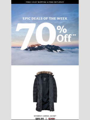 Marmot - 🚨 70% OFF jackets requires your attention 🚨