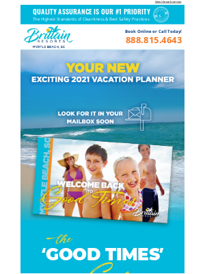 Brittain Resorts & Hotels - Get Back To Good Times! Save 25% + Get Up to $25 Credit Daily!