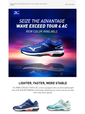 Mizuno Running - 🎾 Seize the Advantage in the WAVE EXCEED TOUR 4 AC | Available in New Colors NOW!