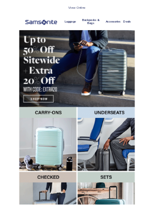 Samsonite - Up to 50% OFF Sitewide