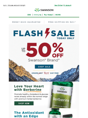 Swanson Health Products - ⚡ FLASH SALE⚡  24 Hours to save up to 50%!