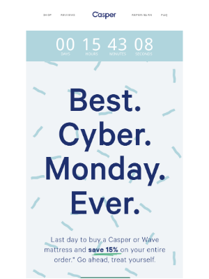 Best. Cyber Monday. Ever.