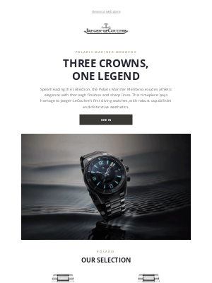Jaeger-LeCoultre - From the blue depth