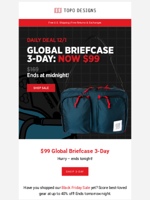 DAILY DEAL: $99 Global Briefcase 3-Day