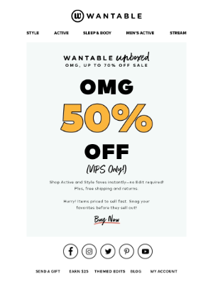 Wantable - omg. 30-70% OFF!