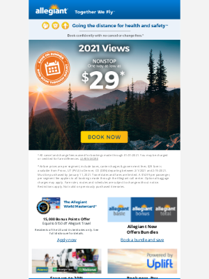 Allegiant Air - TGI2021 | low fares from $29 one way