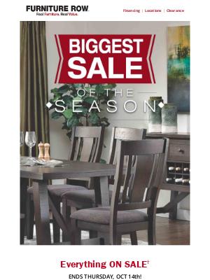 Furniture Row - BIGGEST SALE of the Season 🍁