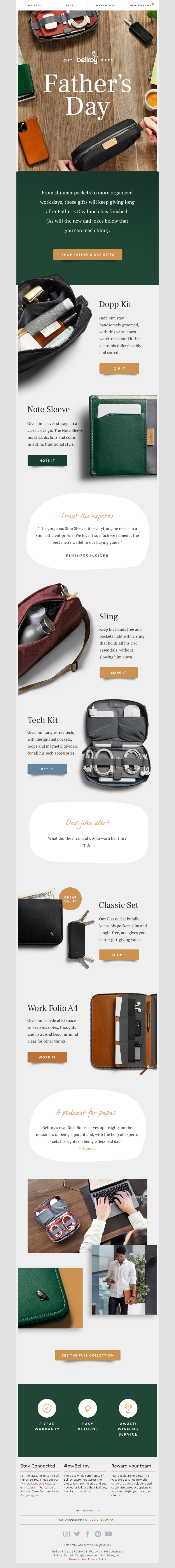 Bellroy - Our Father's Day gift guide is here!