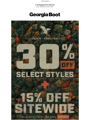 Georgia Boot - Friends + Family Sale Starts Now!