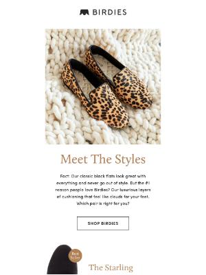 Birdies - 3 Different Styles, Same Luxurious Comfort