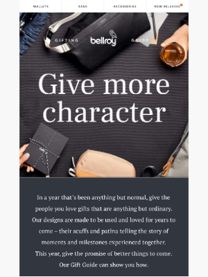 Bellroy - Our Holiday Gift Guide is here!