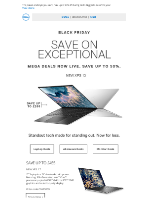 Dell UK - Wednesday Mega Deals are here! Save big on XPS.