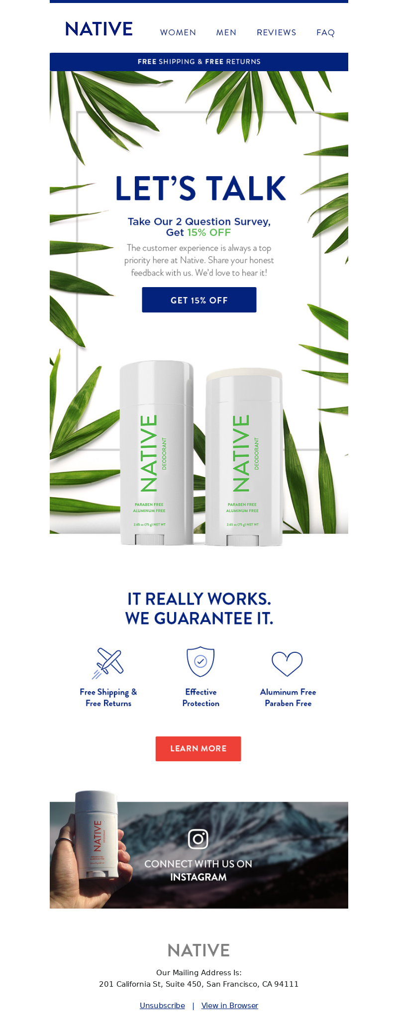 Native - Take Our Survey for a Special Offer!