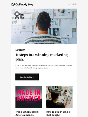 GoDaddy - Your guide to a winning marketing plan.