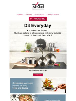 All-Clad Metalcrafters - Introducing Our New D3 Everyday Collection
