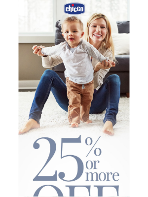 Chicco USA - Don't Miss Out! ⏰ 25% or More OFF + Free Shipping on All On Sale Items Ends SOON!