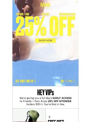 Milk Makeup - VIPs get 25% OFF
