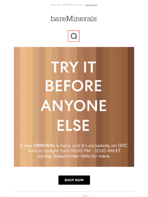 bareMinerals - Be the first to try…
