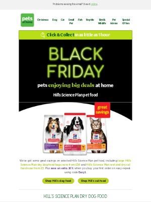 Pets at Home (UK) - Black Friday deals on Hills Science Plan 🎉