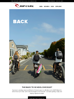 Rip Curl - The Back to School Checklist 🎒