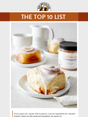 Our Top 10 Baking List for Fall