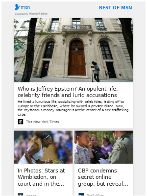 Jeffrey Epstein's opulent, shadowy life, plus more from MSN