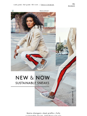 Naturalizer - New & Now: chic + sustainable sneaks