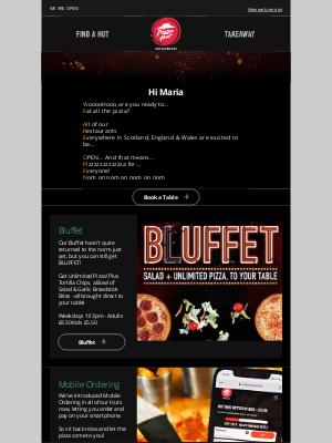 Pizza Hut (UK) - Welcome back Maria!