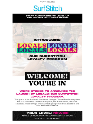 SurfStitch - ashley, our SurfStitch loyalty program is here!