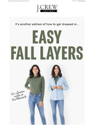 J.Crew Factory - Turtlenecks, cardigans & accessories for fall, all up to 60% off!