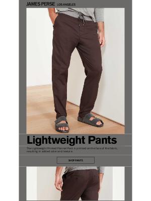 James Perse Ent. - Lightweight Pants